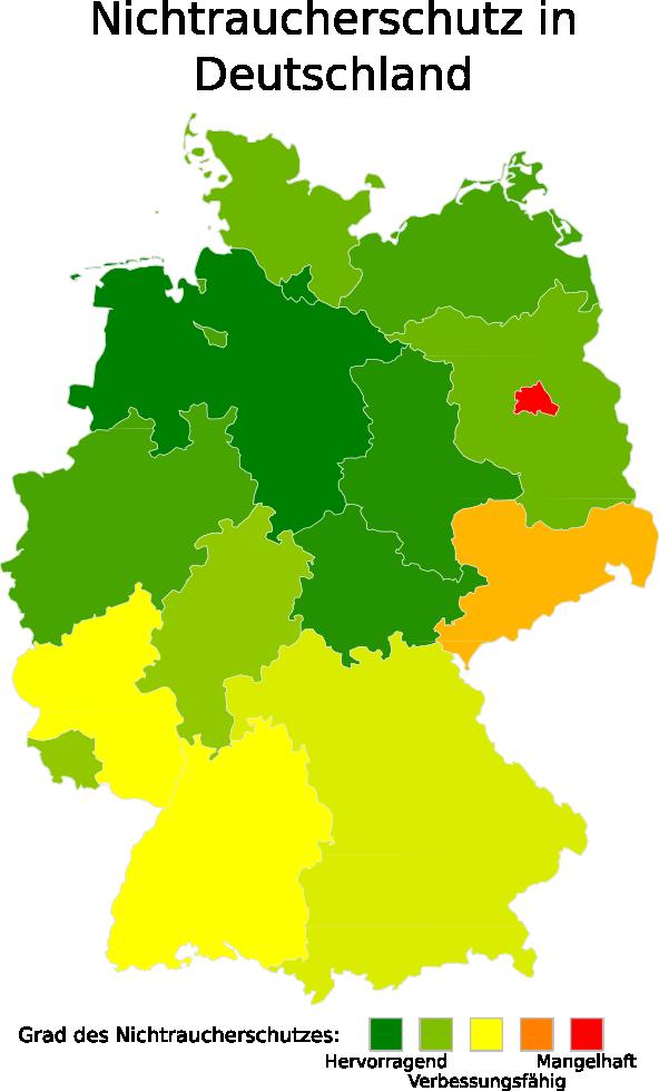 Rauchverbot Deutschland Bundesländer